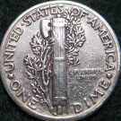 Reverse view of Silver Mercury Dime