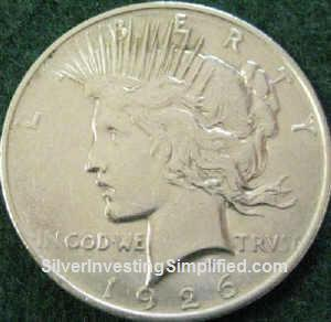 Peace silver dollar after cleaning