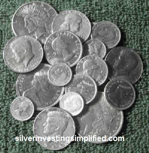 Junk silver coins that are 80 and 90 percent silver