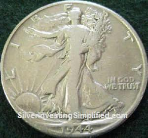 Walking Liberty half-dollar after cleaning